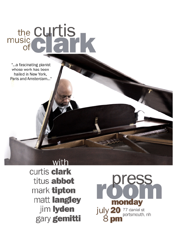 Matt Langley's Graphics – Gig Poster: Curtis Clark