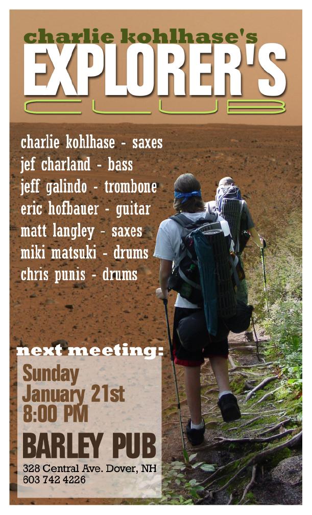 Matt Langley's Graphics – Gig Poster: Explorer's Club