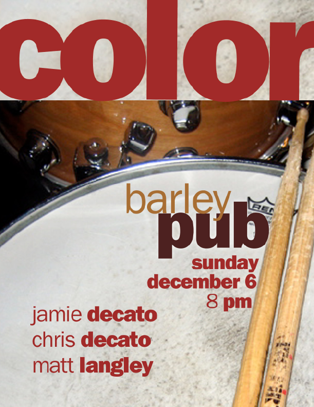 Color at the Barley Pub – Gig Poster